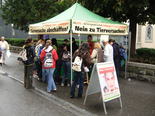 AG STG Infostand am 12. September 2008 in Luzern