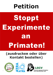 Petition: Stoppt Experimente an Primaten!