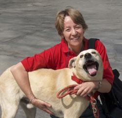 UPA: Corinne Schirmer mit ihrem Hund Bandido