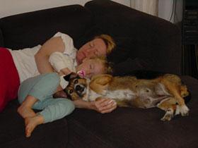 Tierschutzprojekt Monika Brukner - Suschi geniesst ihr neues Leben.