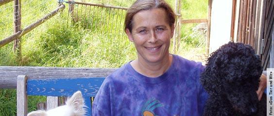 Tierschutzlehrerin Maya Conoci mit einigen Ihrer Lieblinge