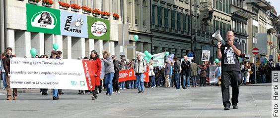 Aktionstag und Demonstration für die Abschaffung aller Tierversuche - Bern, 27.09.2008