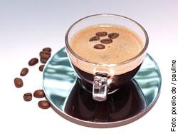 Der morgendliche Kaffee stimuliert den Kreislauf