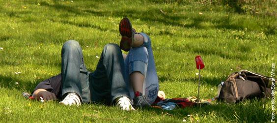 Stressausgleich durch Entspannung ist gesund für Körper und Geist - Also ruhig auch öfters eine gemütliche Pause einlegen