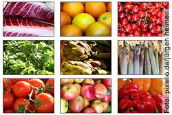 Essen Sie öfters Früchte und Gemüse. Ihr Körper wird Ihnen dafür dankbar sein